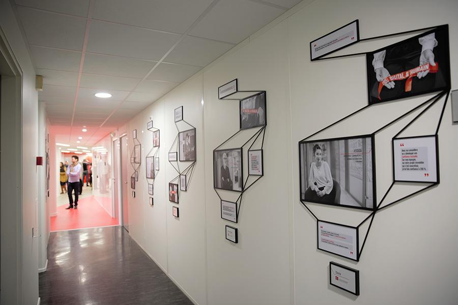 70 portraits pour souligner les liens entre digital et humain au sein du siège Régional de la Caisse d'Epargne Languedoc-Roussillon